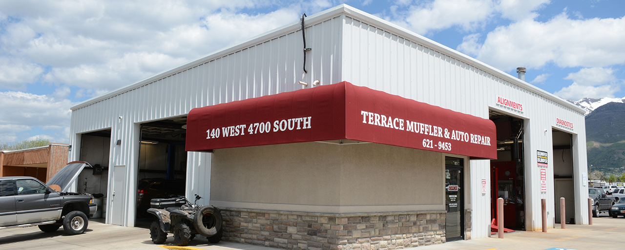 Terrace Muffler shop exterior including addition built by Center Point