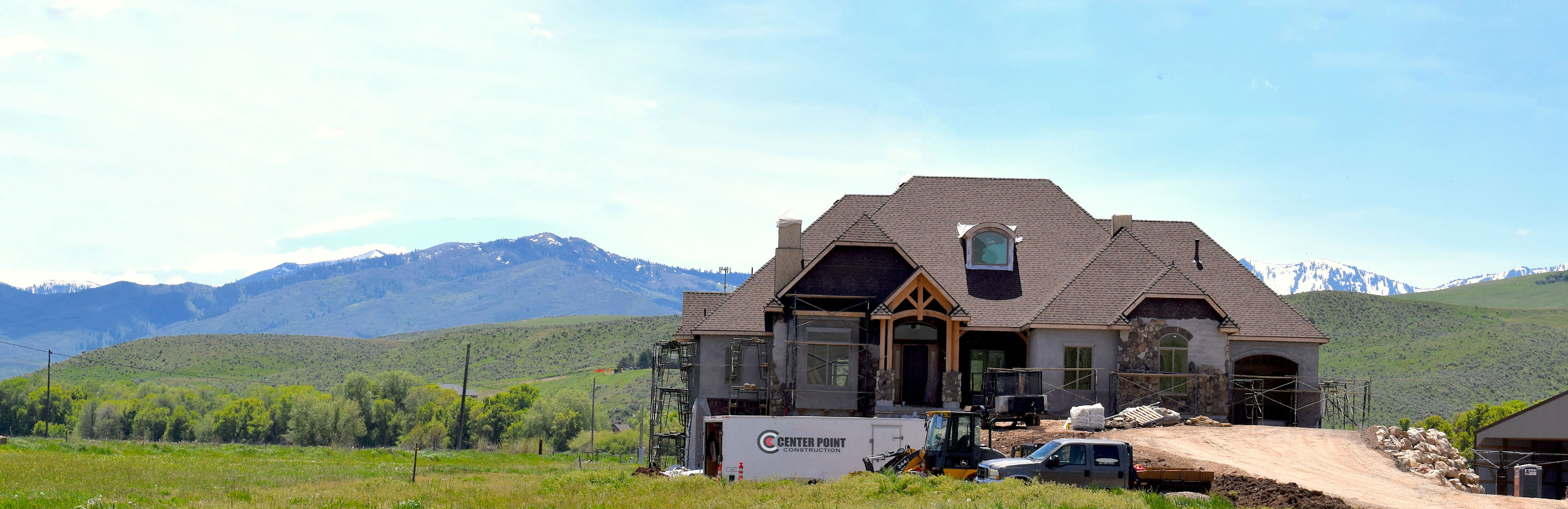 custom home being built by Center Point Construction in Morgan, Utah