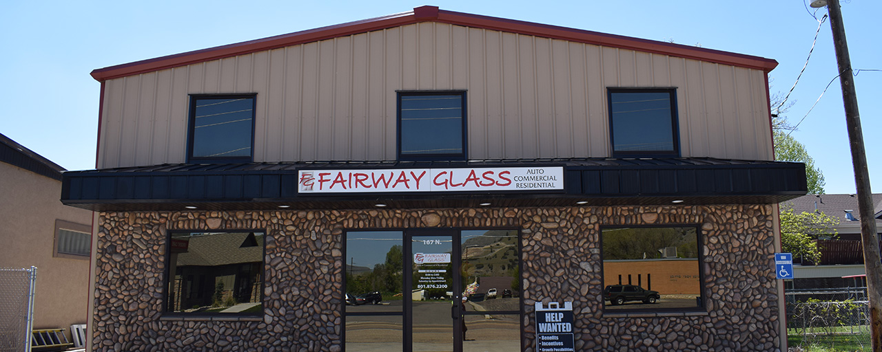 exterior of fairway glass building built by Center Point